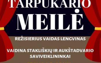 """Stakliškių KLC mėgėjų teatro spektaklis """"Tarpukario meilė"""" Aukštadavryje"""