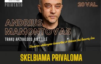 Andrius Mamontovas | Vasaros uždarymo koncertas ir šviesos bei lazerių šou