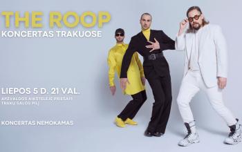 """Kviečiame į grupės """"THE ROOP"""" koncertą Trakuose"""