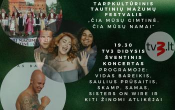 TV3 didysis šventinis koncertas ir nacionalinis Tautiškos giesmės giedojimas Trakuose